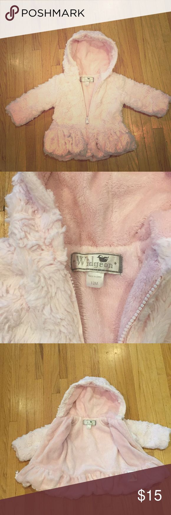 Widgeon Pink Faux Fur Coat Widgeon pink baby girl faux fur coat, very soft, in a great condition Widgeon Jackets & Coats