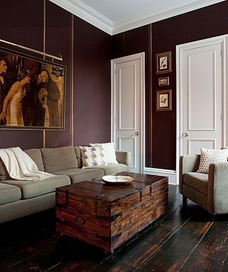 Interior Doors | white molded doors contrast nicely against a dark wall | Bayer Built Woodworks