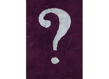tapis enfant violet design point d'interrogation Aratextil en vente chez www.ksl-living.fr