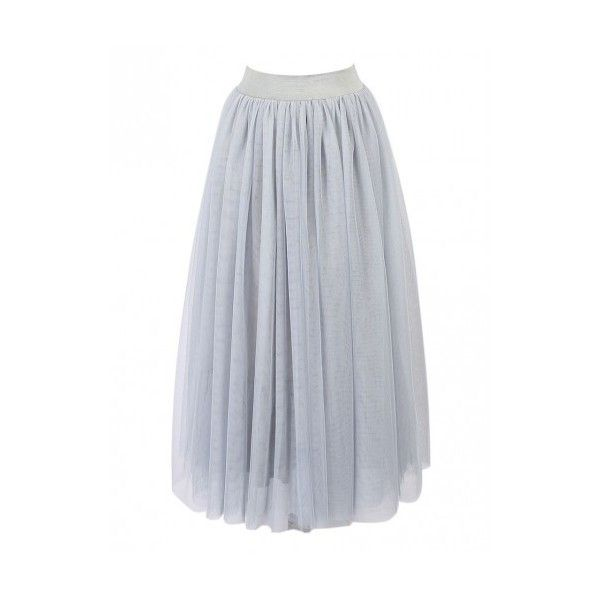 Gray High Waist Triple Layer Maxi Tutu Skirt ($38) ❤ liked on Polyvore featuring skirts, high waisted skirts, maxi skirt, long tutu skirt, tutu maxi skirt and grey maxi skirts