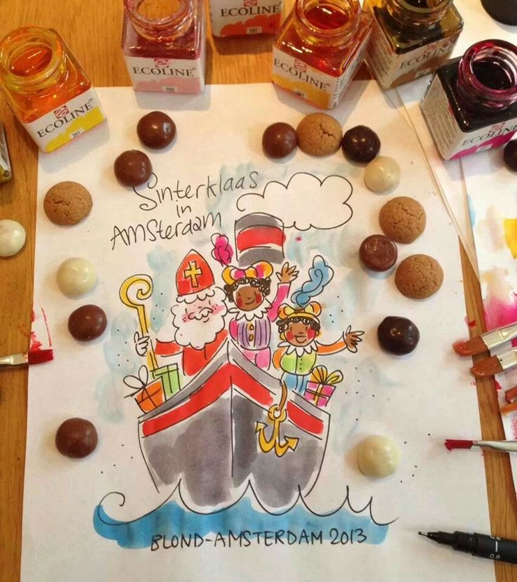 December 5th: het heerlijk avondje is gekomen! (It's sinterklaas eve). Yay!! I've been good this year, so let the pepernoten come :)