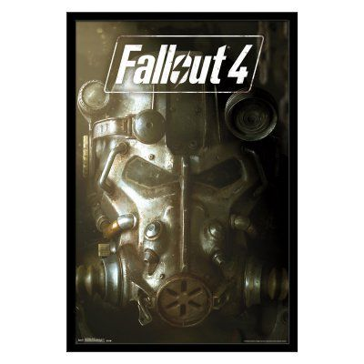 Trends International Fallout 4 Key Art Framed Wall Poster - FR14724BLK22X34