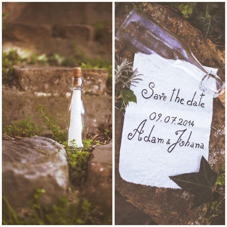 Save the date - message in a bottle