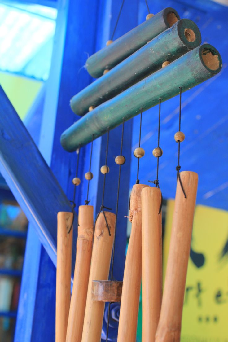 the soft sounds of bamboo chimes