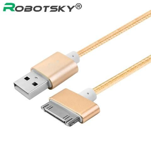 Robotsky For iphone 4 Cable 30 Pin Charger Adapter Cabo USB Cable Fast Quick Chargeur Charge For iphone 4 4s iPad 2 3 Charging