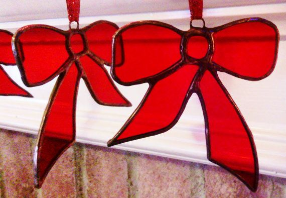 Handmade Stained Glass Christmas Tree Ornament by JBsGlassHouse, $27.00
