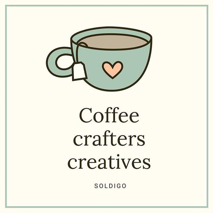 Coffee helps creativity blossom so you can be awesome!  www.soldigo.com #sellonlinewithsoldigo #coffee #friyay #sellwithlove