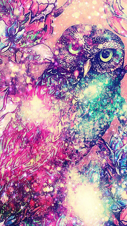 Night Owl Galaxy Wallpaper/Lockscreen Girly, Cute