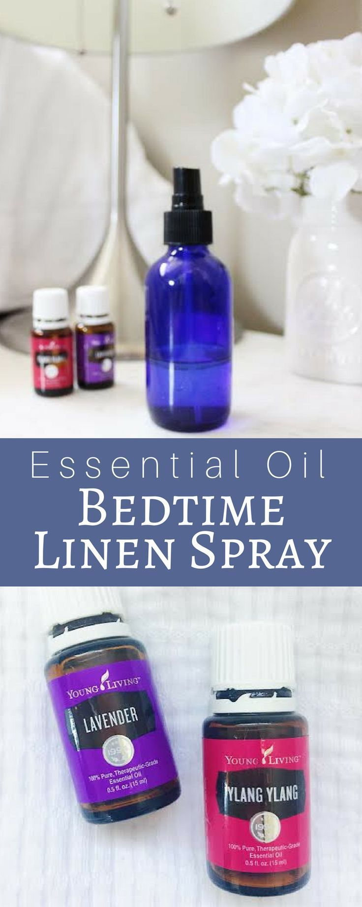 Essential Oils Bedtime Linen Spray with Lavender and Ylang Ylang for sleep