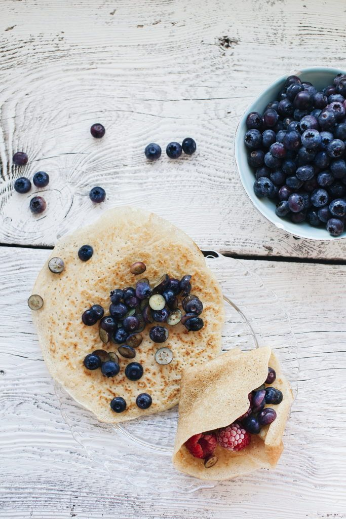 Vegan cardamom pancakes with blueberry | www.honestmunchies.com