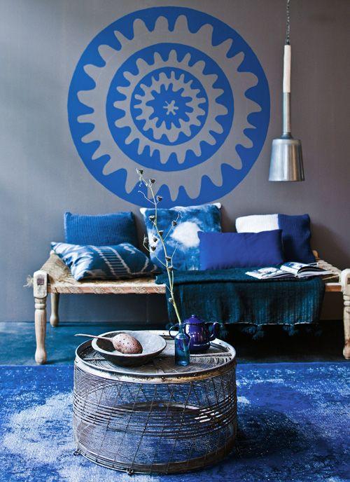Maak 39 t blauw meer blauw in vtwonen maart 2013 styling for Interieur fotografie