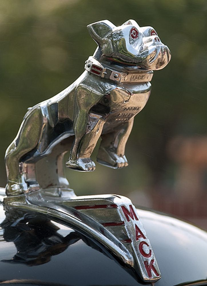 The Bulldog first became associated with Mack Trucks during World War I. British soldiers nicknamed the Mack AC models used in the Allied effort