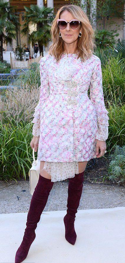 Celine Dion in Giambattista Valli attends the brand's Paris Haute Couture Fashion Week show. #bestdressed