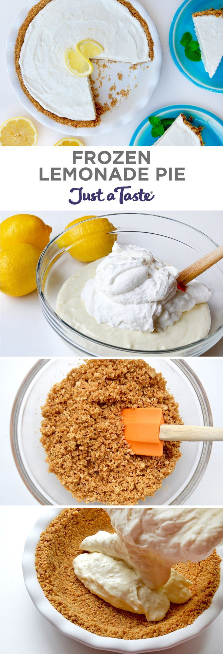 Frozen Lemonade Pie | recipe via http://justataste.com