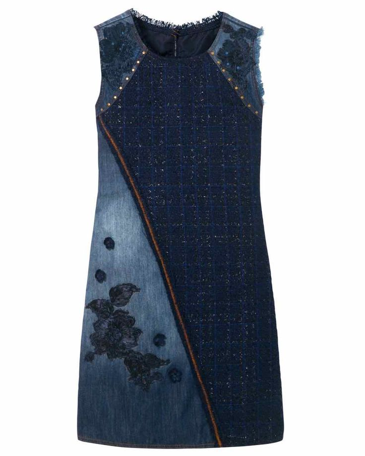 Desigual Kleid Achille Blue 17WWVD05_5008 3   – Jeans
