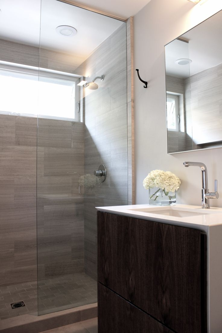 Hollywood hills master bathroom design project the design - Classic Modern Bath Clean Lines Custom Walnut Cabinet Hollywood Hills Los Angeles