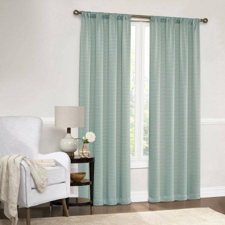 Mainstays Dotted Room Darkening Curtain Panel in Multiple Sizes and Colors, Green