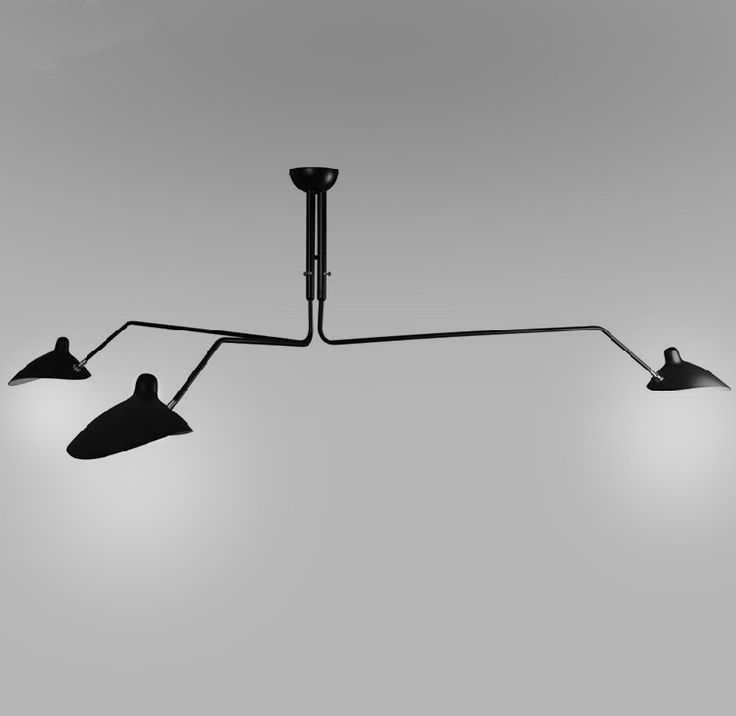 Find More Ceiling Lights Information About Retro Industrial Replica Serge Mouille Three Arms Lamp Duckbill Chandelier