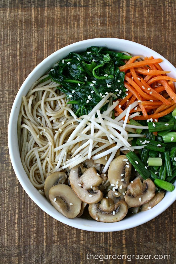 The Garden Grazer - Asian Noodle Soup