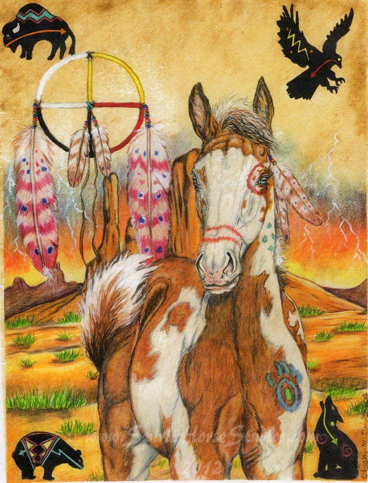 Native American Paint Horse & Medicine Wheel