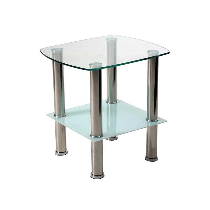 Glas beistelltisch mit ablage edelstahl jetzt bestellen for Beistelltisch glas edelstahl