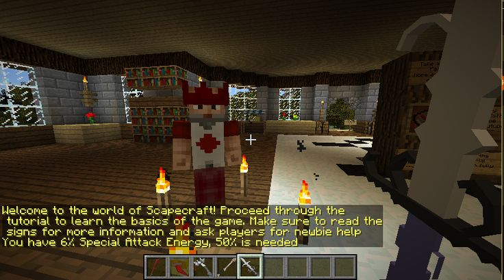 Scapecraft! A mod like no other with over 500 custom mobs/models/weapons. Questing minigames skilling pvp and more in this project that took years to produce. Video in comments