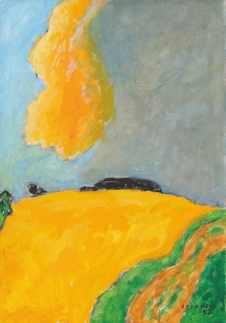 """Józef Czapski, """"Żółta chmura"""" (1982)"""