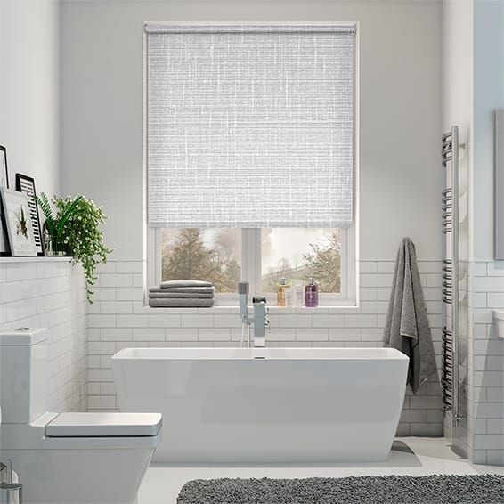 Amazon Blackout Mist Roller Blind | White wooden blinds ...