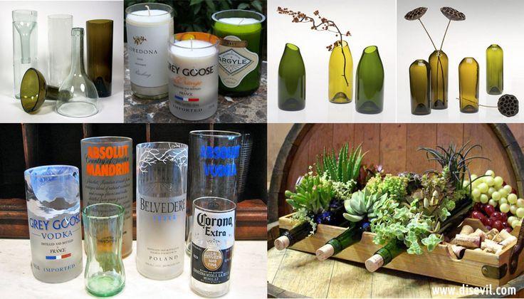 Dales otro uso a tus botellas de vino y licor