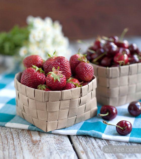 DIY: paper fruit basket