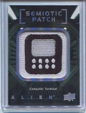 2017 UD ALIEN MOVIE SEMIOTIC PATCH CARD SP24 COMPUTER TERMINAL