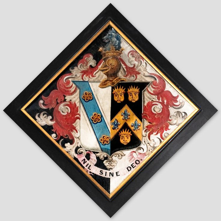 Hatchment in the Church of the Holy Cross, at Seend, Wilts., England