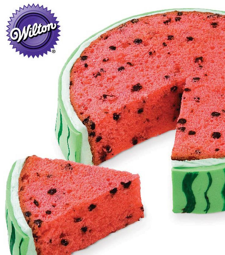 YUM! How cute & delicious does this slice of watermelon cake from @Wilton Cake Decorating Cake Decorating Cake Decorating Cake Decorating look?