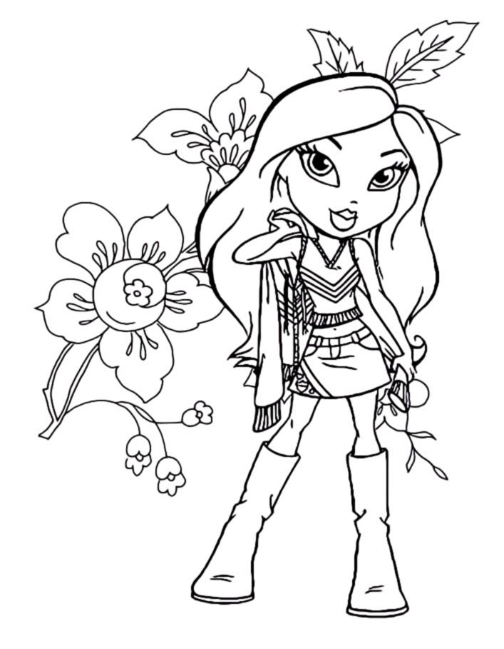 Bratz Coloring Pages Is A Series Of Fashion Dolls Yasmin Chloe Sasha And Jade All The Girls Have Different Tempers