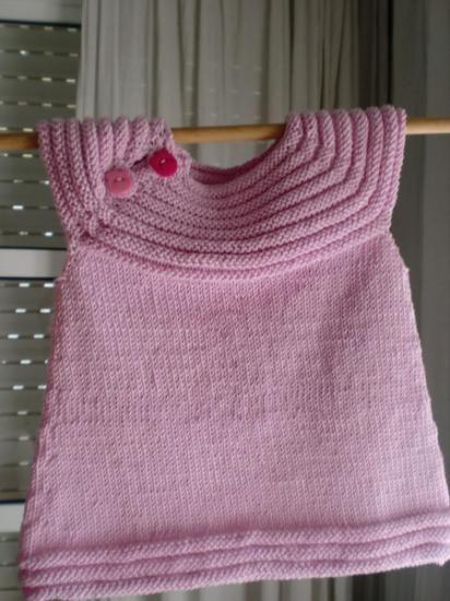 vestido para niña  algodón tejido a dos agujas