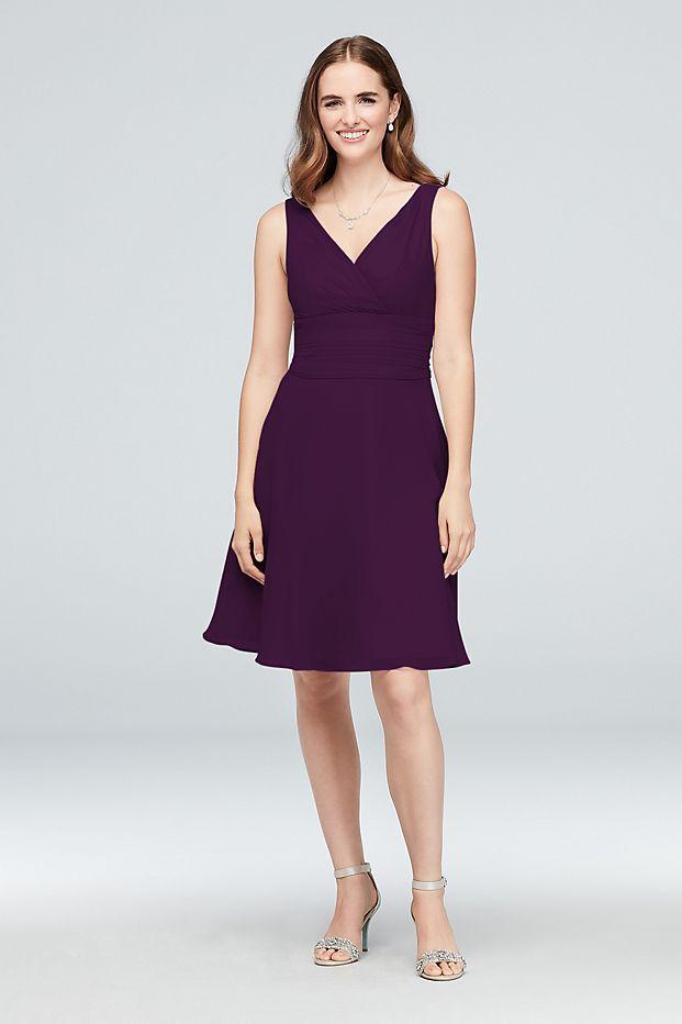 so cheap low priced how to buy Surplice Tank Short Chiffon Bridesmaid Dress Style F19964 ...