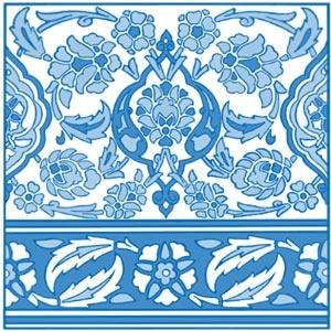 Turkish Floral Design #wedding #decor #blue