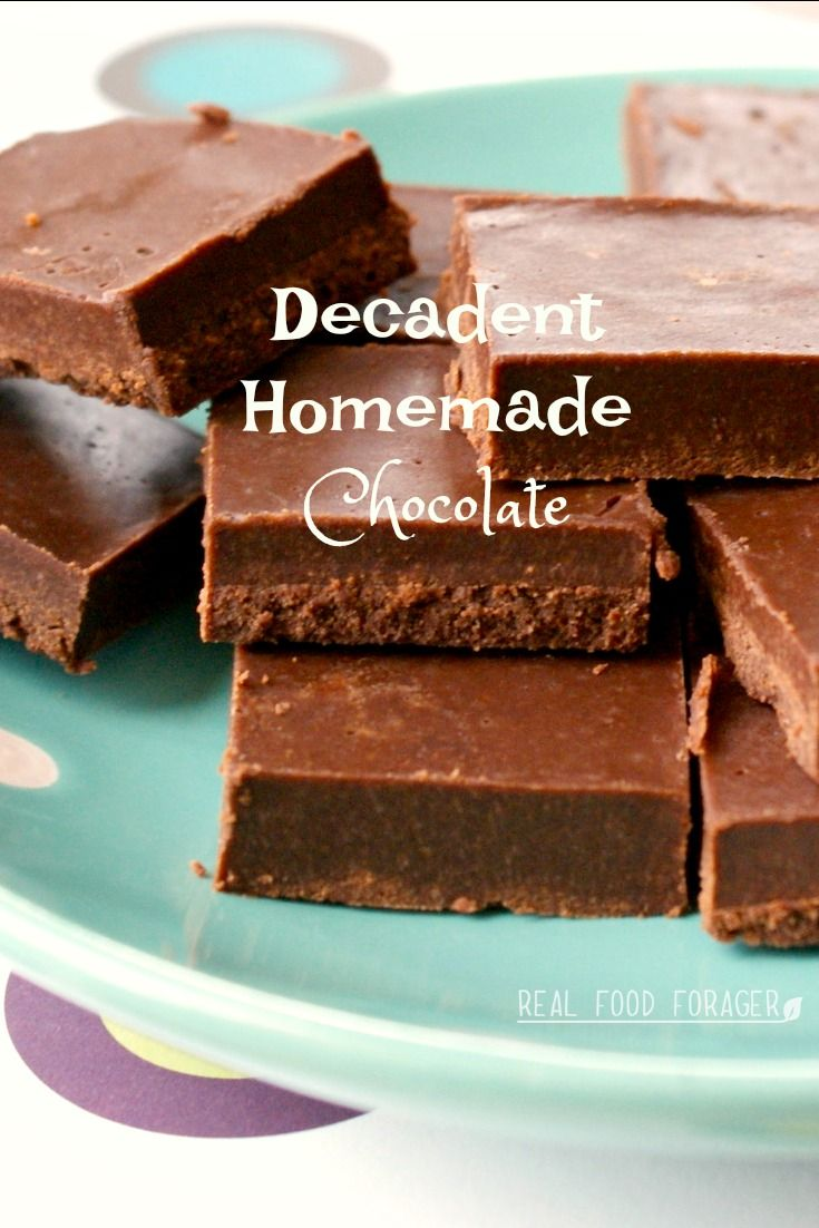 Homemade Chocolate (GAPS, Paleo). Avoid all the additives and make your own fantastic homemade chocolate from raw cacao butter and cacao powder!