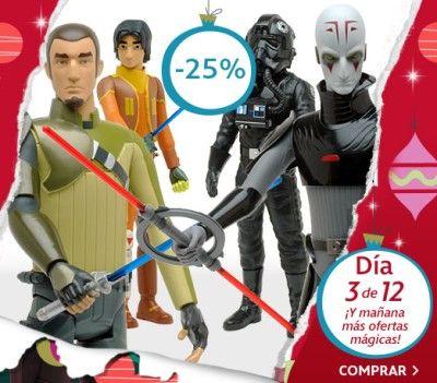 ¡¡Oferta!! Solo hoy 6 de diciembre tienes online cuatro figuras de acción de Star Wars Rebels con un 25% de descuento directo.