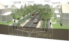 """""""Plan West: West Baton Rouge Parish Comprehensive Plan"""" An urban section."""