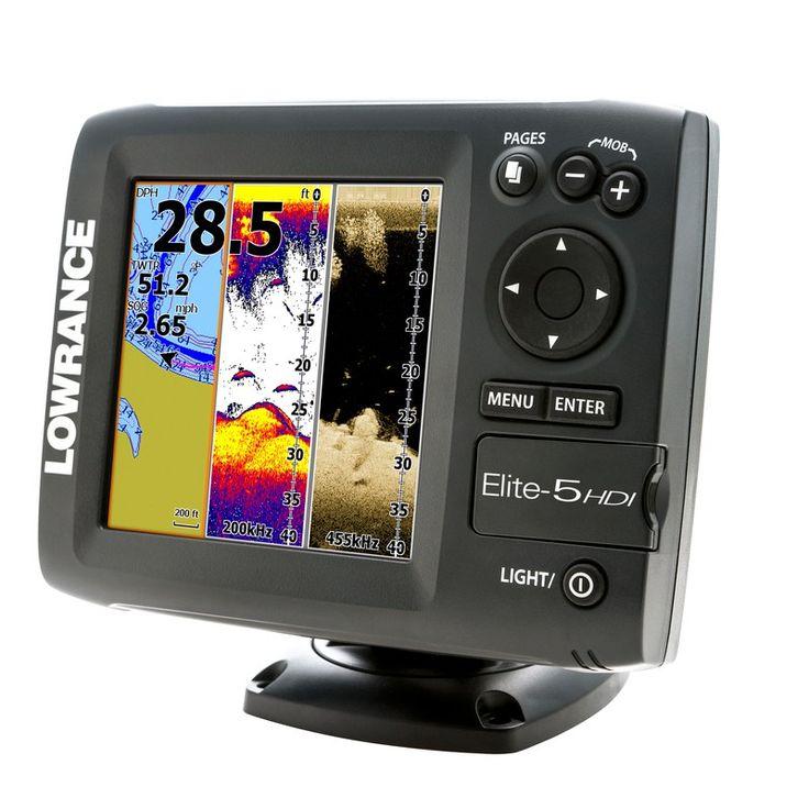 Lowrance Elite 5 HDI Fish Finder Reviews Gps navigation