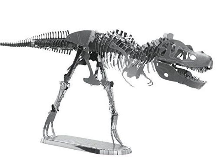 Dinosaur Metal Modelling Kits - T-Rex or Stegosaurus 3D modeling kits