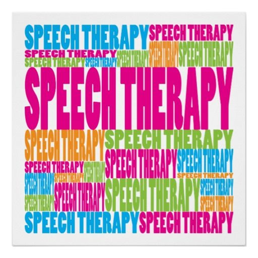 Colorful Speech Therapy Posters