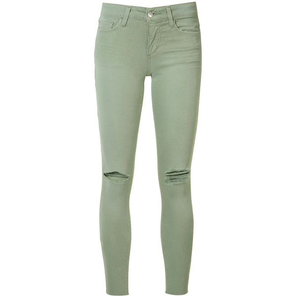 Joe's Jeans ripped super skinny jeans ($189) ❤ liked on Polyvore featuring  jeans,. Olive Skinny JeansOlive Green ... - Best 25+ Olive Skinny Jeans Ideas On Pinterest Army Green Pants
