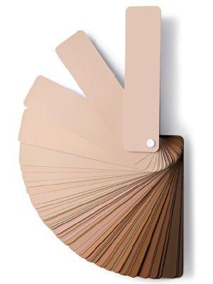 Sephora Pantone Skin Tone Color Guide for foundation makeup. Buy the Pantone Skin Tone color guide at http://www.pantone.com/pages/pantone.aspx?pg=21046