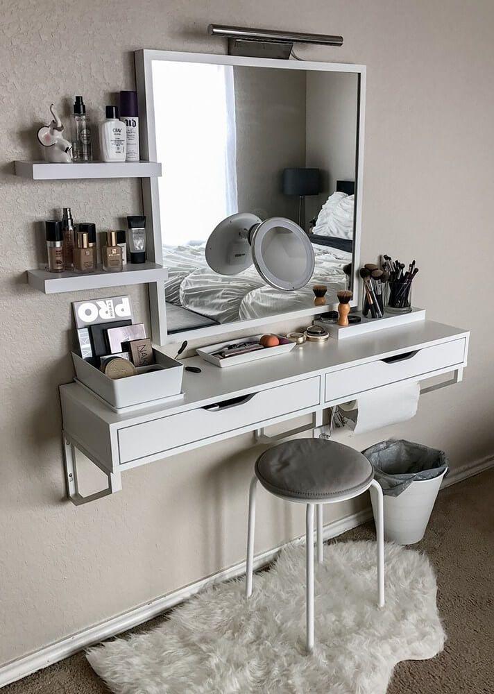 Space-Saving Floating Vanity Shelf