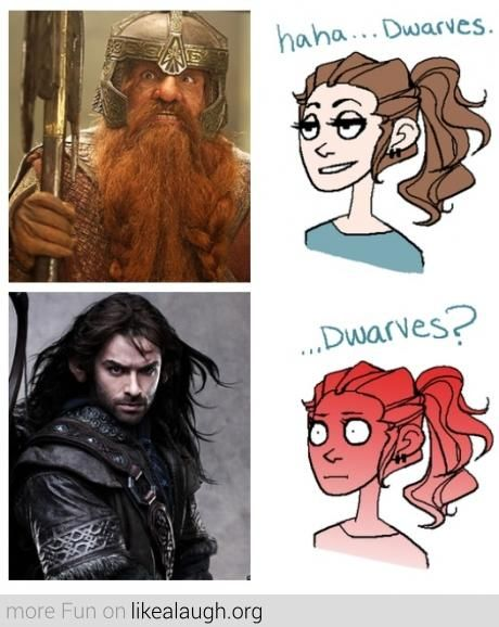 The Difference between LOTR and The Hobbit>>>>>but Gimli was like ancient. Idk how old the hobbit dwarves were but all I cam say is DAAAAAAAAMMMMN KILLI!!