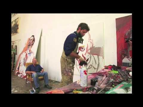 Ben Quilty is a master of the palette knife. Get a glimpse at his technique!