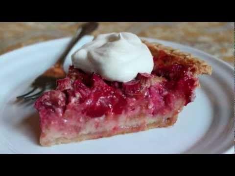 Strawberry Rhubarb Custard Pie