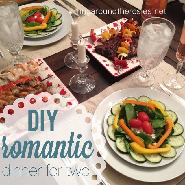 Diy Dinner For Two Anniversary Style